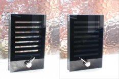 Vision panels/slatted blinds